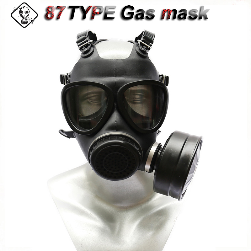 87 Type Gas Mask Classic Style High Quality Respirator Full Mask Natural Rubber Z-B-R2-V Military Filter Protective Mask