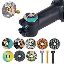 Mtb bicicleta de estrada tigela capa da haste da bicicleta tampa superior para 28.6mm garfo tubo headset cap ciclismo acessórios