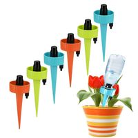 6/12x Automatic Watering Drip Irrigation System Adjustable Stakes Waterer Garden X6HC|Watering Kits|Home & Garden -