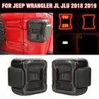 pcmos LED Tail Lights Fit For Jeep Wrangler JL JLU 2018 2019 Sport Rubicon Sahara Car Tail Light Assembly 2Pcs/set 2019 New
