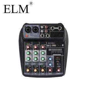 Image 3 - ELM AI 4 Karaoke mikser Audio konsola miksująca kompaktowa karta dźwiękowa konsola miksująca cyfrowy BT MP3 USB do nagrywania muzyki DJ