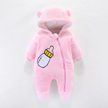 2020 Autumn Winter Toddler Romper Baby Jumpsuit Overalls Thick Warm Hooded Baby Girl Boy Clothes Newborn Rompers Infant Clothing baby winter clothes cartoon dog thick warm toddler boy girl romper hooded jumpsuit children snowsuit down kids clothing