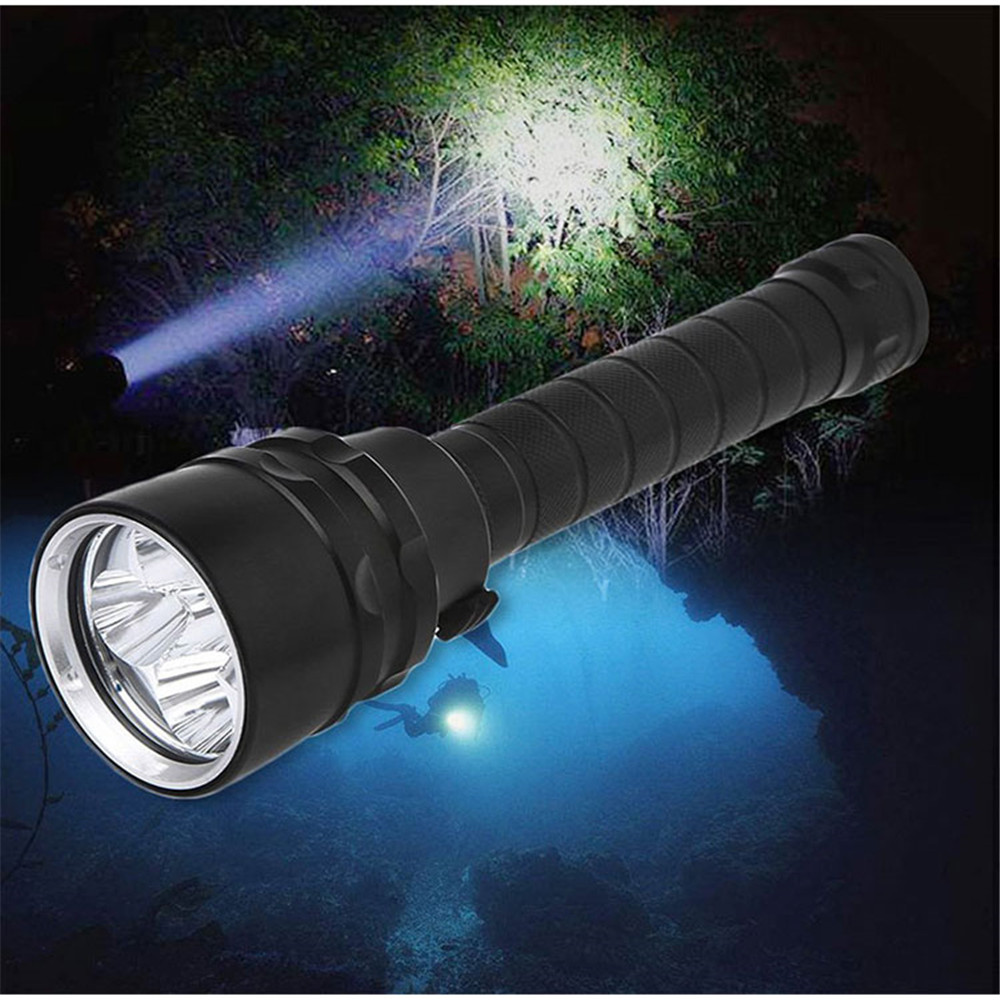 XML-T6 L2 Powerful Battery Flashlight Diving Professional Portable Dive Torch Underwater Illumination Waterproof Flashlights