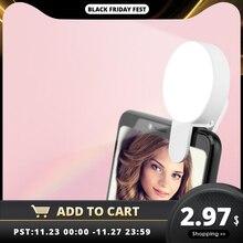 Téléphone Portable LED Selfie anneau lumière Portable cercle photographie pince lumière beauté remplissage lampe pour téléphone Portable caméra Rechargeable
