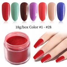 18g/Box 28 Colors for Choose Dipping Powder Without Lamp Cure Nails Dip Powder Summer Gel Nail Color Powder Natural Dry