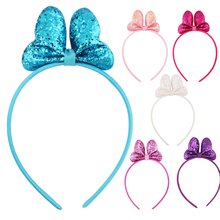 2019 New Girls Headband Bright Pink Bow 6 Colors Banquet Party Decoration Childrens Hair With Headwear Accessories