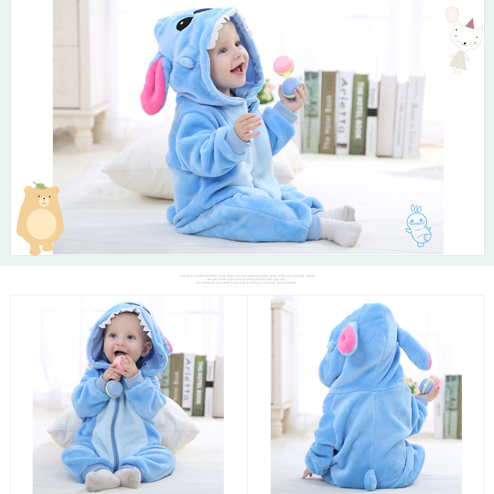 Image 4 - SLAIXIU Baby Sleeper Cotton Pajamas For Children Girls Cartoon Anime Panda Kids Costume Boy Sleepwear Newborn Blanket Jumpsuit-in Blanket Sleepers from Mother & Kids