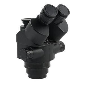 Image 3 - 3.5 90X Simul Tiêu Cự Trinocular Stereo Zoom Kính Hiển Vi 144 Đèn LED Đa Chức Năng Articulating Arm Trụ Cột Cho Phòng Thí Nghiệm Sửa Chữa