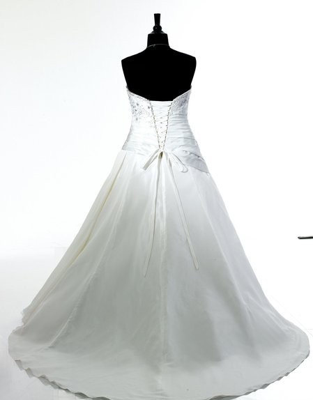 Envío Gratis realmente fotos vestido de fiesta regal forma favorecedora cintura asimétrica rebordada encaje hasta vestido de novia - 2