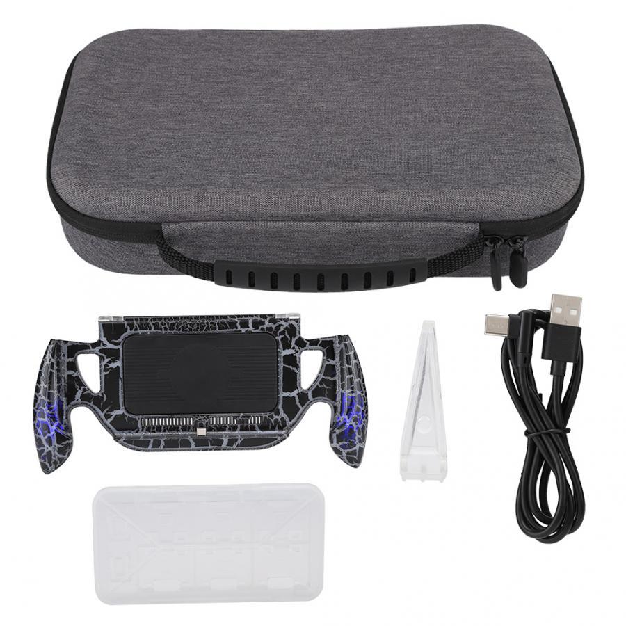 Sac de jeu pour Switch Console de jeu alimentation support Transparent sac de rangement gris accessoires Kit étui de jeu