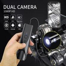 8mm dupla câmera endoscópio wifi borescopio inspeção 2.0mp câmera de esgoto sem fio cobra para android e ios smartphone