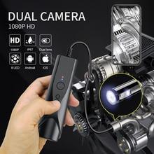 8mm çift endoskop kamera WiFi BorescopeI muayene 2.0MP kablosuz yılan kamera kanalizasyon Android kamera ve iOS akıllı telefon