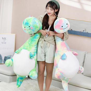 Huggable Giant Cute Rainbow Dinosaur Plush Toys Stuffed Animal Baby Kids Doll Soft Pillow Kawaii Birthday Gift Home Decoration 18cm genuine husky plush toys cute soft animal dog toys doll creative gift for kids birthday gift