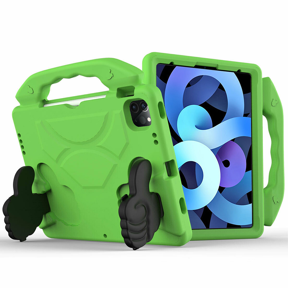 Green White for iPad Air 4 Case 2020 A2316 A2324 EVA Safe Kids Handle Stand Tablet Case Cover