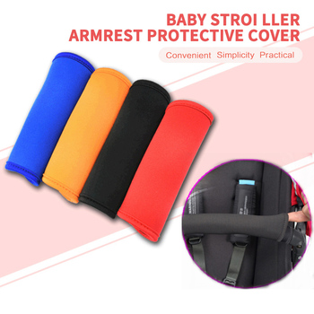 6 Color Baby Stroller Handle Accessories Protective Case Cover For Handrail Pushchair Armrest Case Protective Pram Stroller Tool image