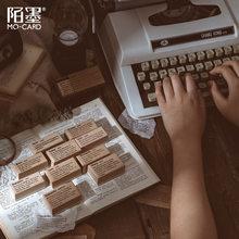1 pièces dictionnaire anglais série joint créatif Simple texte Vintage en bois timbres en caoutchouc bricolage tampon en caoutchouc pour la fabrication de cartes Scrapbook