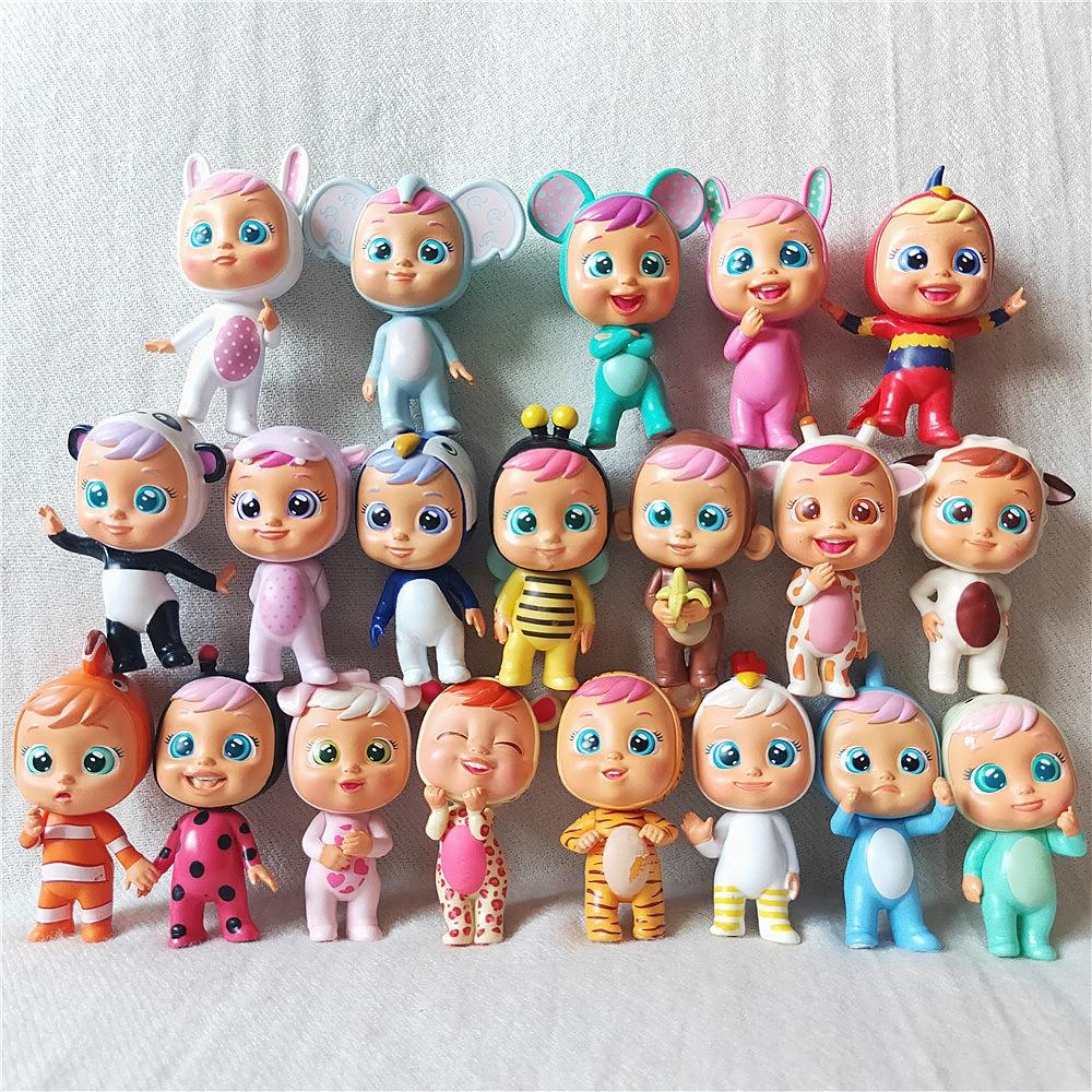 3 шт./8 шт. куклы Cry Magic Baby Doll Shark/Lala/Coney/Flipy/Lady/Pandy /Lori/Pig/Детские игрушки лучшие подарки (размер 7 см)