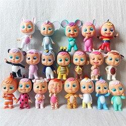 3 pces/8 pces cry dolls bebê mágico tubarão/lala/coney/flipy/senhora/pandy/lori/porco/crianças brinquedos melhores presentes (tamanho 7cm)