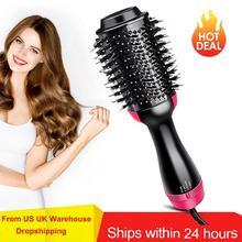 Secador de cabelo profissional volumizador um passo, escova sopradora, ferramenta estilizadora