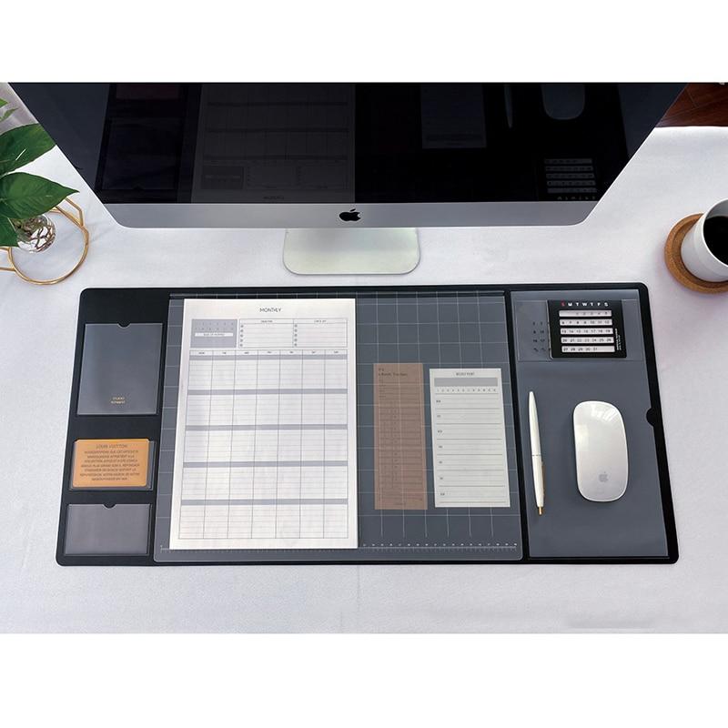 Multifunctional Oversized Pu Mouse Pad Student Writing Pad Business Desk Mat Laptop Cushion Desk Organizer with Calendar 2