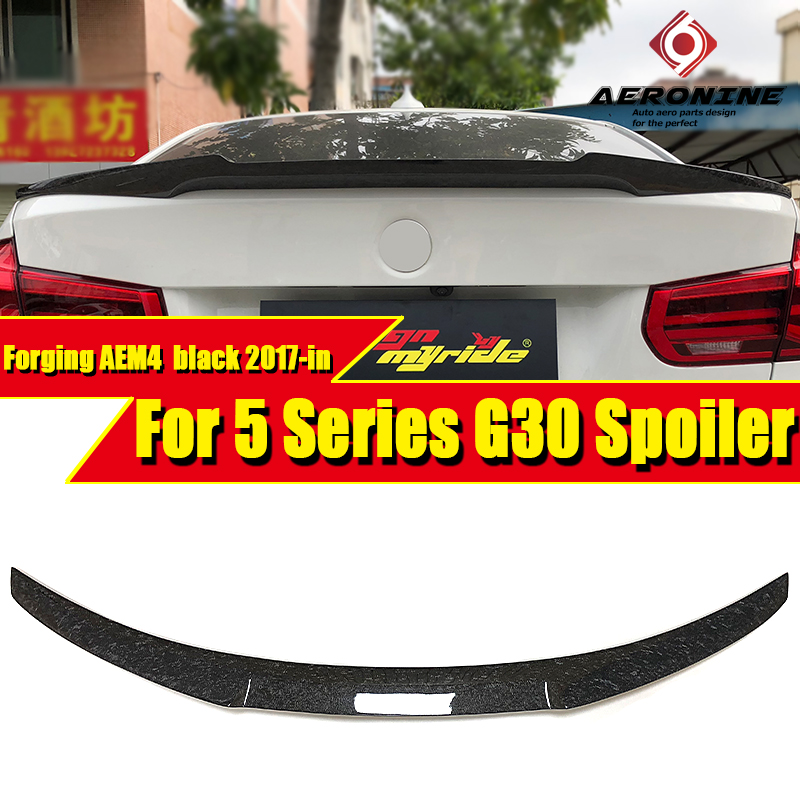 G30 Spoiler Tail Wing Real Forging Carbon M4 style Trunk For BMW 5 series 520i 530i 535i 540i Look rear spoiler 2017-in