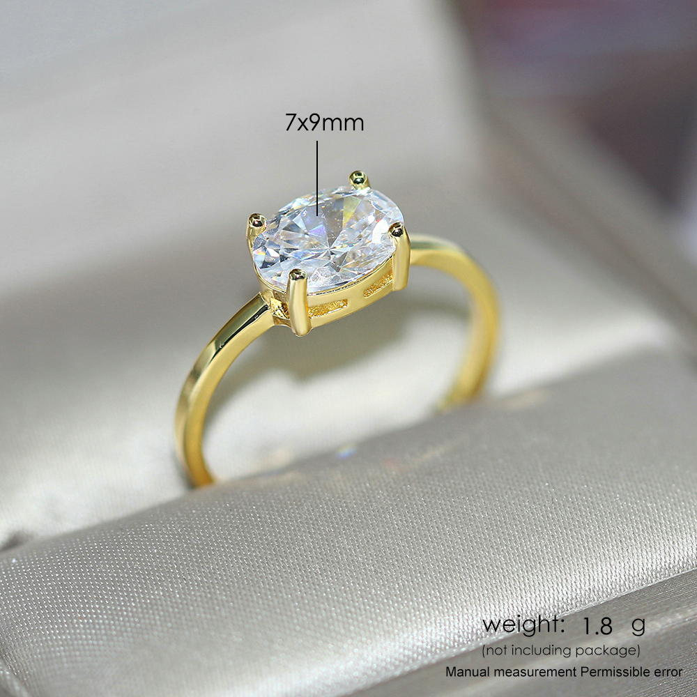 ZHOUYANG Wedding Rings For Women Simple Multicolor Oval Zircon Light Gold Color Wholesale Bride Jewelry Friendship Gift R865