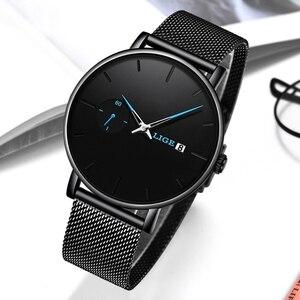 Image 4 - Reloj Mujer LIGE montre daffaires à Quartz pour femmes, marque supérieure de luxe, mode Sport, horloge de Date, étanche, boîte