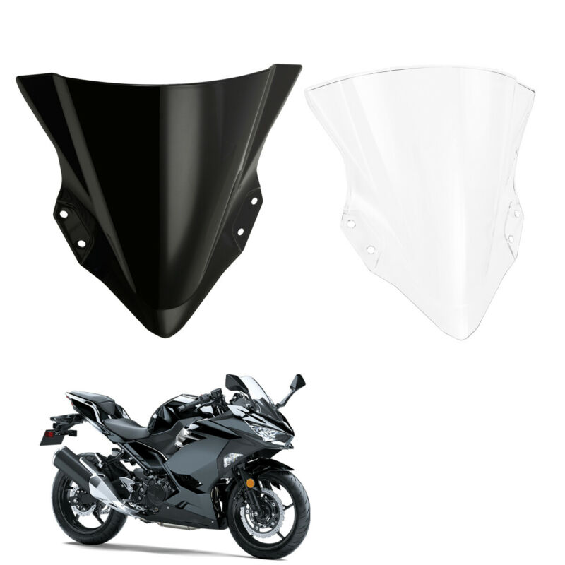 Motorcycle Windshield <font><b>Windscreen</b></font> Deflector For Kawasaki <font><b>Ninja</b></font> <font><b>400</b></font> EX400 2018-2019 18 19 image