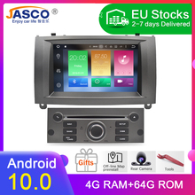100% Nieuwste Merk Android 10.0 Auto Dvd speler Gps Glonass Navigatie Voor Peugeot 407 2004 2010 4 Gb Ram multimedia Radio Stereos