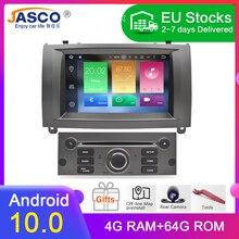 11.11 yeni marka Android 10.0 araç DVD oynatıcı oynatıcı GPS Glonass navigasyon Peugeot 407 2004 2010 için 4GB RAM multimedya radyo stereo
