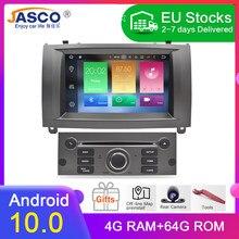A mais nova marca android 10.0 carro dvd player gps glonass navegação para peugeot 407 2004-2010 4gb ram rádio multimídia stereos
