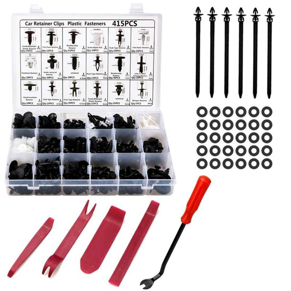 456Pcs/Set Auto Car Body Interior Fender Bumper Retainers Fasteners Clips Plastic Rivets Trim Repair Kit Screws Panel Fastener