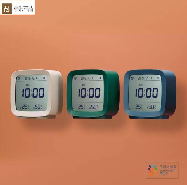 Sensor de humedad Youpin Qingping con Bluetooth, Sensor de temperatura y humedad, Mijia luz nocturna, alarma LCD, termómetro Mihome App