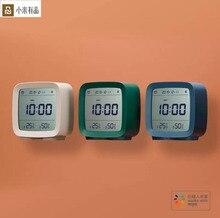 במלאי Youpin Qingping Bluetooth טמפרטורת לחות חיישן Mijia לילה אור LCD מעורר שעון Mihome App בקרת מדחום