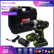 Screwdriver Battery Electric-Drill Powerful Cordless CLUBIONA Lithium-Ion And 20V Ce
