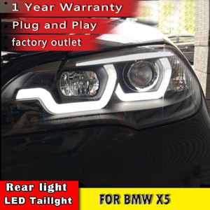 Image 4 - New Car Styling for BMW X5 e70 2007 2013 Headlight LED DRL LOW/HIGH Beam H7 HID Xenon bi xenon lens for BMW X5 Head Lamp Auto