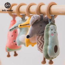 Baby Rattle Toys Bed-Stroller Montessori-Doll Mobile-Bed Avocado Educational Hand-Bell