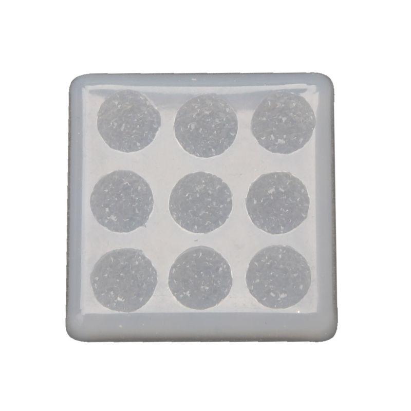 Feito à mão 12mm faísca cristal cluster moldes de resina plana redonda resina gem brincos resina cola epoxy molde jóias fazendo ferramentas