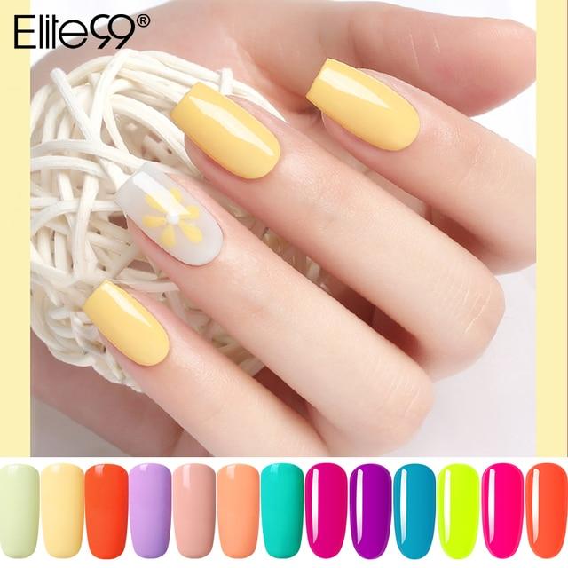 Elite99 Nail art Gel 10ML Reine Nagel Farbe UV LED Gel Nagellack langlebig Macaron weg Tränken lack Gel Lack Candy Farbe