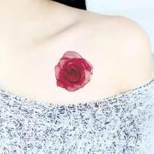 Beleza Colorido Flores Artificiais Adesivos Tatuagem Flash Tatuagens Descartáveis Body Art Tatuagem Falsa Tatuagem Temporária À Prova D' Água