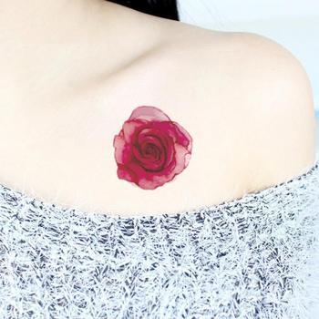 Uroda kolorowe sztuczne kwiaty naklejki z tatuażami Flash tatuaż fałszywe wodoodporne tymczasowe tatuaże jednorazowe tatuaż-ozdoba na ciało tanie i dobre opinie CN (pochodzenie) 60* 60mm Tattoo Stickers as picture