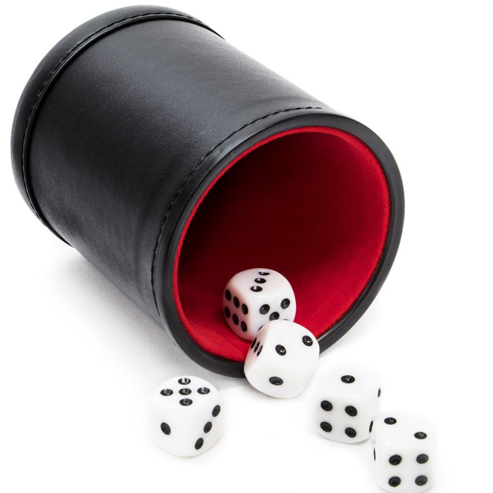 Clubs Toy Pub Gambling Mute KTV Dicebox PU Leather Accessories Entertainment Casino Bar Game Party Supplies Dice Cup