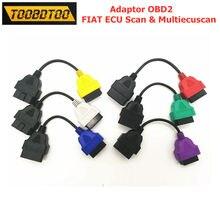 Melhor preço obd2 conector cabo para fiat ecu varredura e multiecuscan 6 cores único cabo de fio para fiat ecu 6 adaptadores