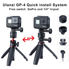 Ulanzi GP 4 Quick Release Magnetic Mount Base GoPro and 1/4 Tripod Mount Base Adapter for GoPro Max/8/7/6/5/4/3 Accessories
