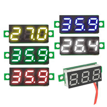 "0,28 ""DC 2,5-30 V Mini LCD Digitale Rot Grün Blau Gelb LED Auto Voltmeter Spannung Panel Meter tester Detektor Monitor 0,28 inch(China)"