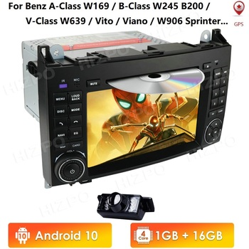 7Car GPS Navigation DVD Player Android For Mercedes Benz A-Class W169,B-Class W245,V-Class W639,Viano,2004-2012,W906 Sprinter image