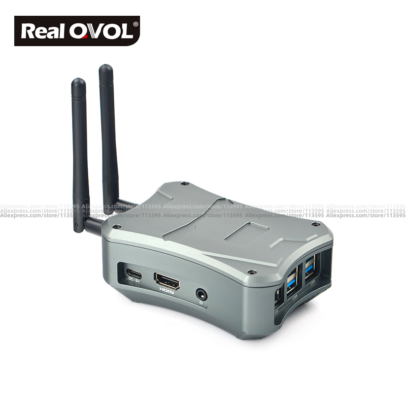 RealQvol FriendlyElec NanoPi M4 Metal Case W/ Cooling Fan