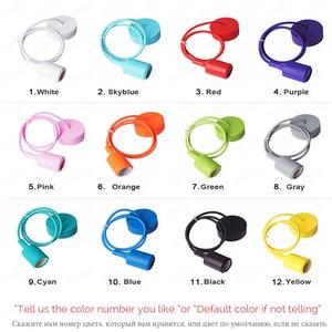 Image 3 - נברשת משתלת תקרת נורדי ילד של דקו צבע e27 מודרני תליון תקרת מנורות סיליקון led נברשת עכביש סלון