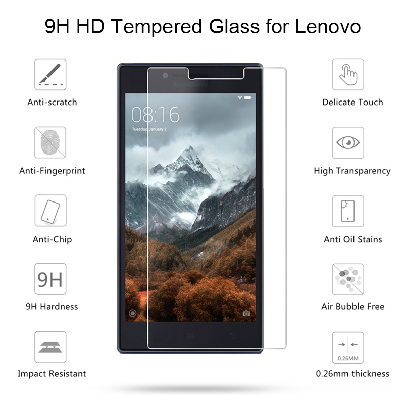 Protector Glass For Lenovo A1000 A1900 A2010 A3690 Tempered Glass For Lenovo P1 Pro P2 P70 P780 Glass On Lenovo X2 Pro X3 Lite