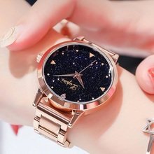 Women Dress Watches Rose Gold Stainless Steel Lvpai Brand Fashion
